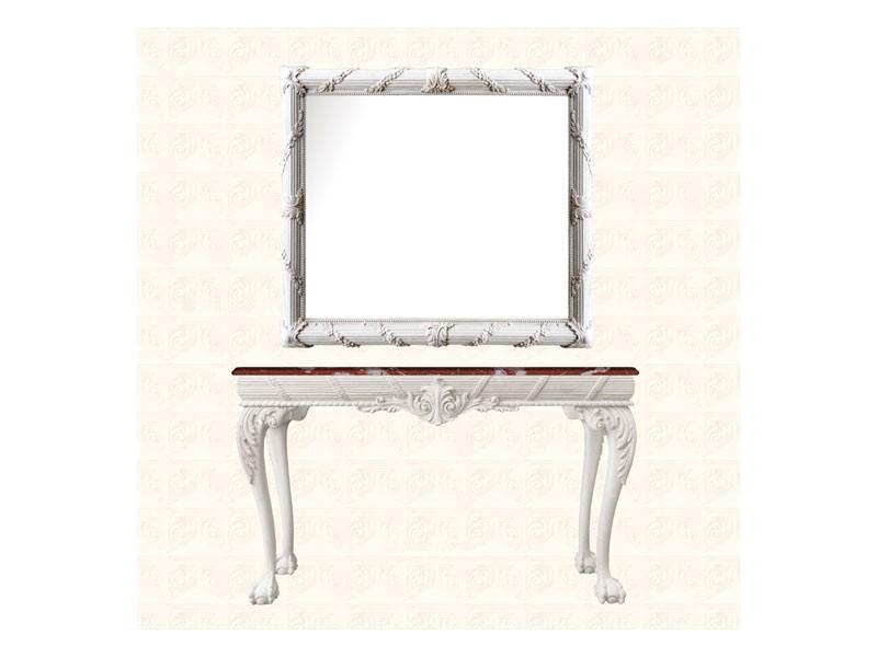 Wall Mirror art. 160, Espejo con marco decorado con la corona de flores