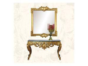 Wall Mirror art. 162, Espejo de lujo con acabado de pan de oro