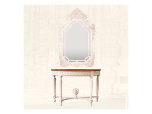 Wall Mirror art. 163, Espejo de madera tallados a mano, para salas de estar de lujo