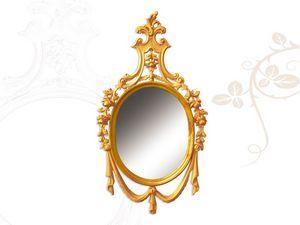 Wall Mirror art. 170, Espejo de madera tallados a mano, estilo Luis XV