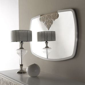 AN 723 A, Espejo con marco blanco