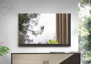 Art. NS00034, Espejo lacado acanalado