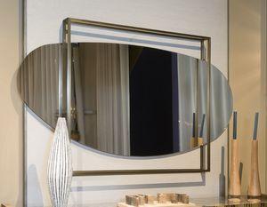ATENA espejo GEA Collection, Espejo redondeado, con marco cuadrado en latón.
