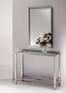 DOMUS 2192 MIRROR, Espejo moderno, en el marco de latón níquel pulido