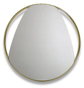 Frame G, Espejo redondo con marco de metal