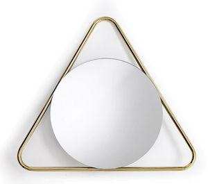 Frame T, Espejo redondo con marco triangular