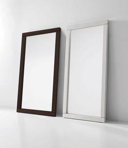Fusion, Espejo con marco de madera, luz de neón opcional