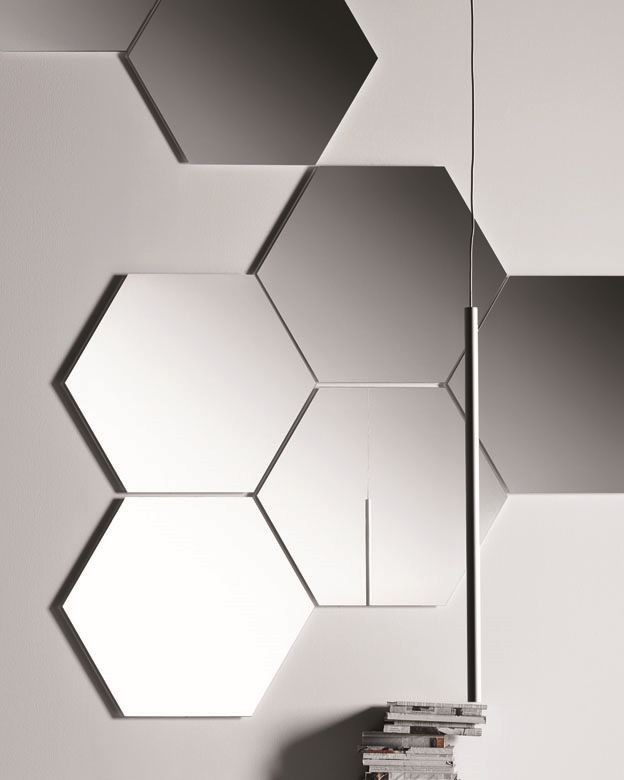 Geometrika hexagonal, Espejos hexagonales modulares, sin enmarcar