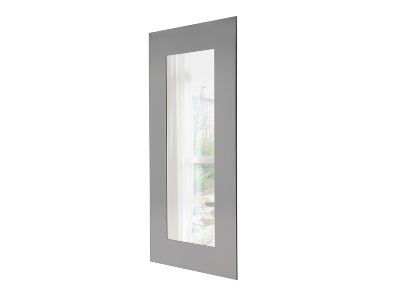 Espejo rectangular con marco de acero pulido   IDFdesign