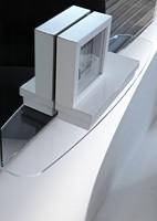 k198 visual bw, Espejo con panel trasero con iluminación LED