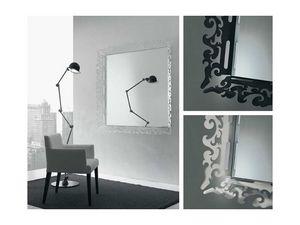 k199 mirror, Espejo con marco decorado en plexigl�s
