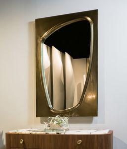 LAPETO espejo GEA Collection, Espejo con marco bronceado.