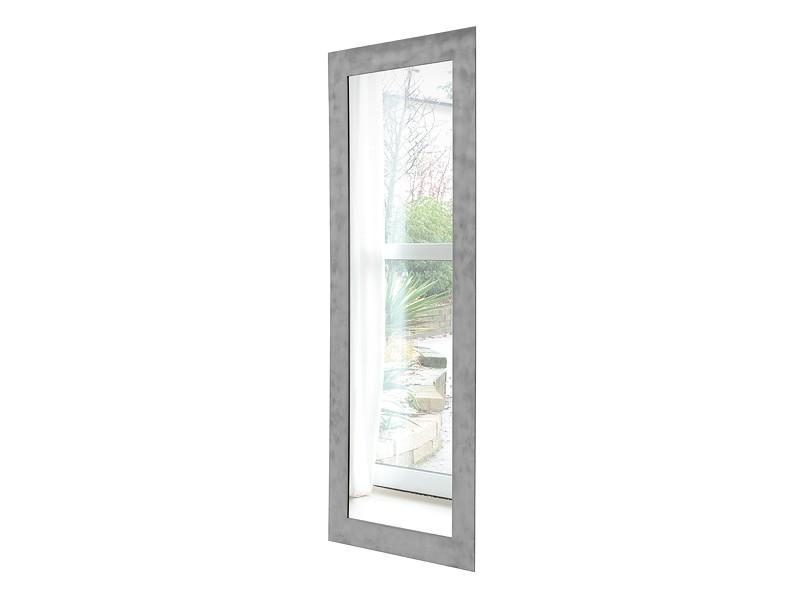 Espejo rectangular con marco de acero cepillado | IDFdesign