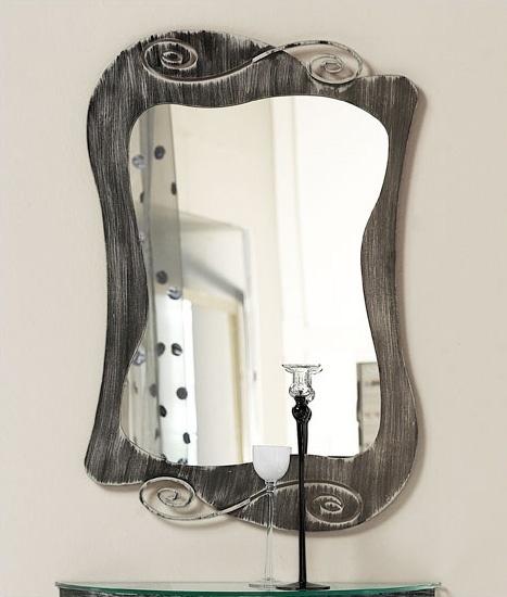 Mirò mirror, Espejo con marco de hierro curvado