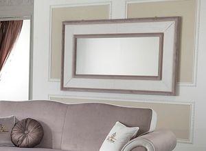 MORFEUS espejo, Espejo rectangular con marco cubierto