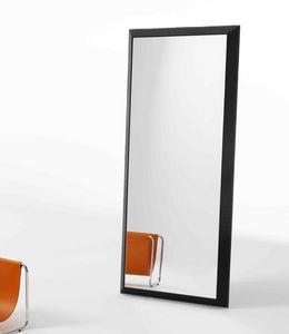 Rex G, Espejo rectangular con marco de cuero impresa