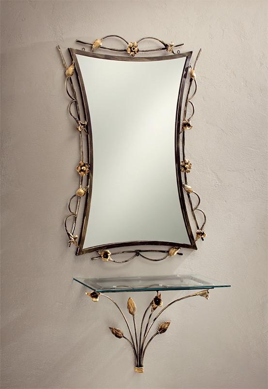 SP/300, Espejo con hierro forjado y decorado