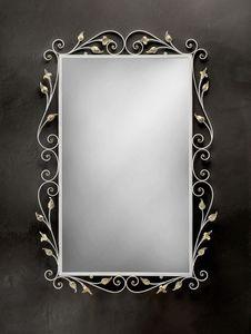 SP/310, Espejo rectangular con marco en hierro forjado
