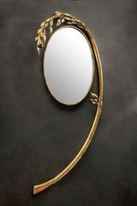 SP/330, Espejo redondo con marco de arco en hierro forjado