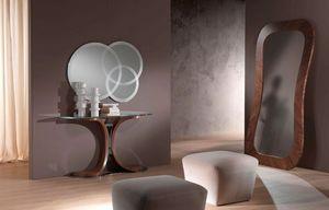 SP24 Morfeo espejo, Espejo en madera de nogal Canaletto, para los cuartos de entrada