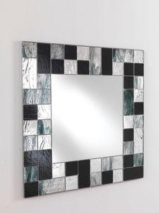 Specchio 05, Espejo cuadrado con marco de mosaico