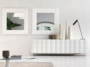 VENICE mirror, Espejo cuadrado con marco mate