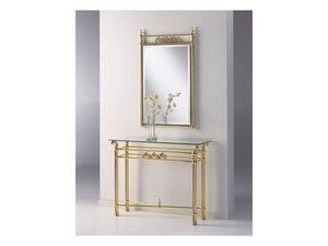 VIVALDI 1092 MIRROR, Espejo de estilo en latón pulido, para uso residencial