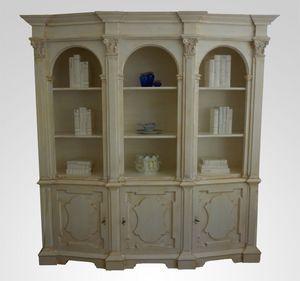 3550 LIBRERÍA, Librería de madera de lujo, sala de estar clásica