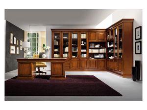 Art.0742/L, Esquina estantería de madera, de estilo clásico