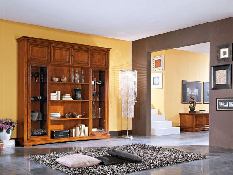 Art.102/L, Aparador de estilo clásico en madera, para salas de estar y cocinas