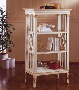Art. 202, Pequeño estantería en madera, decoración de hojas de oro, para sala de estar