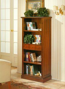 Art. 859, Librería clásica con estantes abiertos.