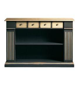 Camilla FA.0105, Estantería con 4 cajones y 2 estantes, en estilo clásico