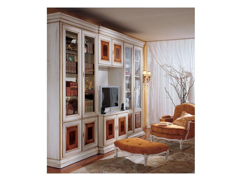 Display bookcase 731 A, Biblioteca clásica de lujo en madera
