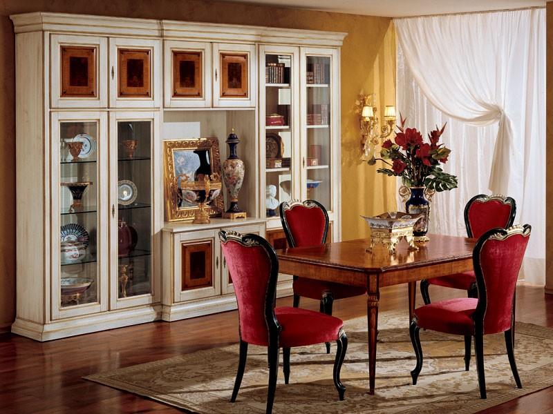 Display bookcase 731 A2, Biblioteca clásica de lujo en madera