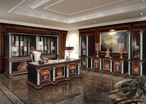 F950/E, Biblioteca clásica para la oficina, estantería tallada adecuado para la oficina