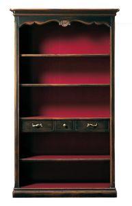 Grazia FA.0096, Librería provenzal con tres estantes y tres cajones
