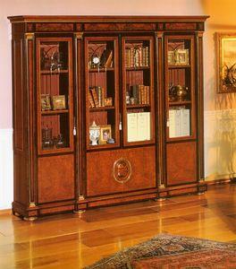IMPERO / HOME OFFICE Bookcase, Elegante biblioteca clásico para estudio profesional
