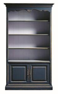Lorena FA.0100, Biblioteca 2 puertas y 4 estantes, en estilo clásico
