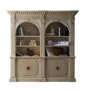 Montignoso ME.0129, Biblioteca de Medici con 2 puertas con inserciones de mármol, capiteles corintios, cuartos pequeños retráctil, de estilo clásico