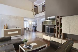ST 25, Muebles para sala de estar en la ceniza, puertas amortizados