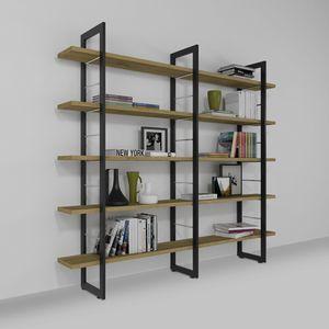 Alice, Librería de pared de hierro y madera