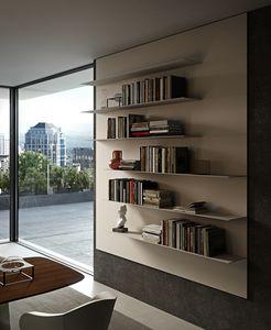 ALL comp.01, Estantería de pared con estantes de aluminio