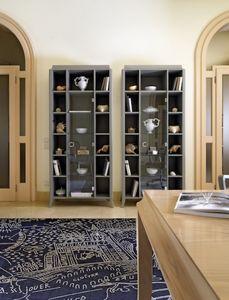 Art. VL418, Estantería con puerta de cristal, estilo clásico contemporáneo