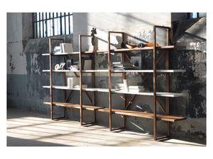 Assioma, Estantería de madera maciza, para salas de estar