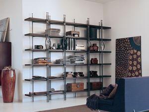 Be Bop, Estantería de madera y metal adecuado para uso residencial