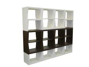 B&B, Biblioteca modular, estantes de madera, ideal para uso residencial