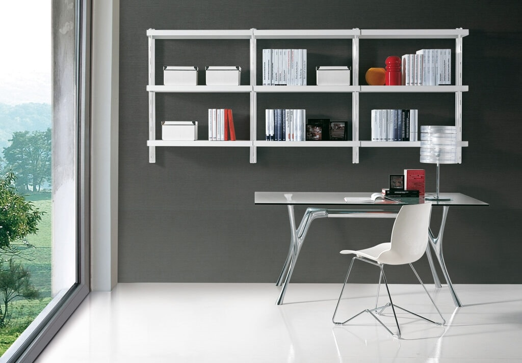 Big wall unit, Biblioteca moderna para la oficina y el hogar