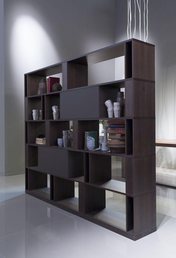 BRERA comp.01, Biblioteca de alto diseño con doble cara, personalizable