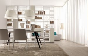 Citylife 22, Estantería de doble cara, para salas de estar y comedores